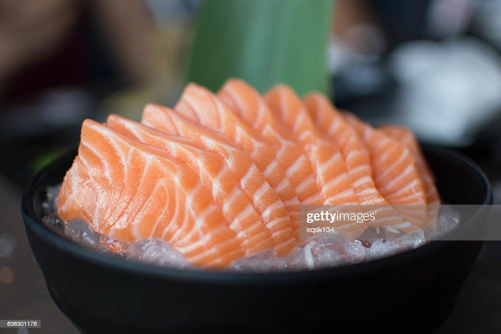 Salmon sashimi - Japanese food : Foto de stock