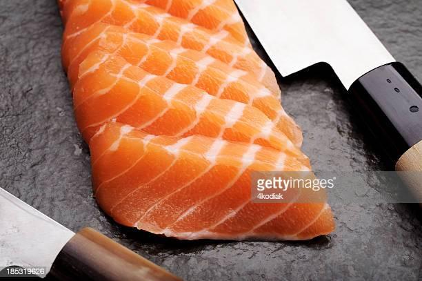 salmón sashimi - sashimi fotografías e imágenes de stock
