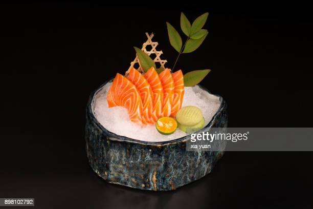 salmon sashimi - sashimi fotografías e imágenes de stock