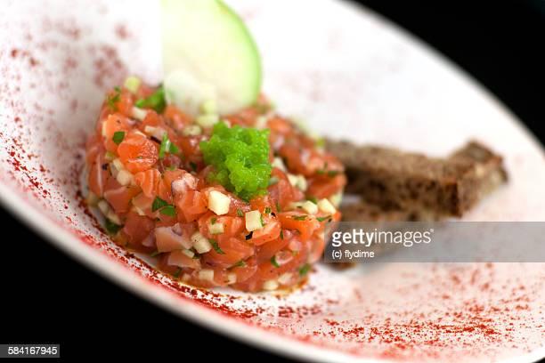 Salmon tartare spanish tapas