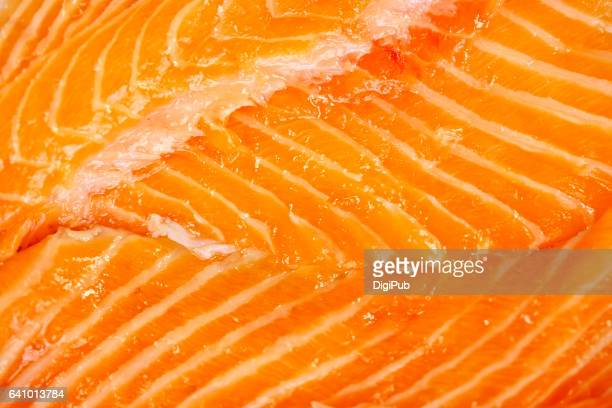 Salmon trout meat texture