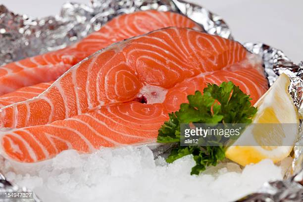 Salmon with ice