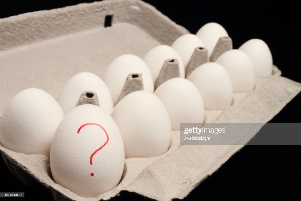 Salmonella Eggs Horizontal : Stock Photo