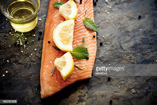salmonfillet - trout stock pictures, royalty-free photos & images