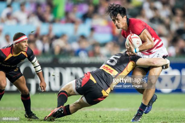 Salom Yiu Kam Shing of Hong Kong in action during their World Rugby Sevens Series Qualifier match between Germany and Hong Kong as part of the HSBC...