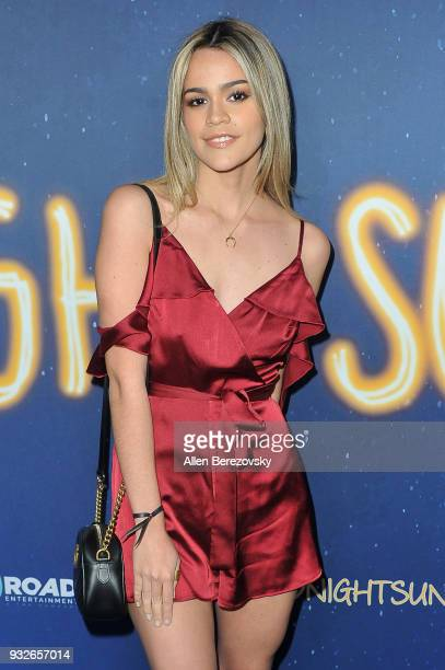 Salome attends the Global Road Entertainment's World Premiere of Midnight Sun at ArcLight Hollywood on March 15 2018 in Hollywood California