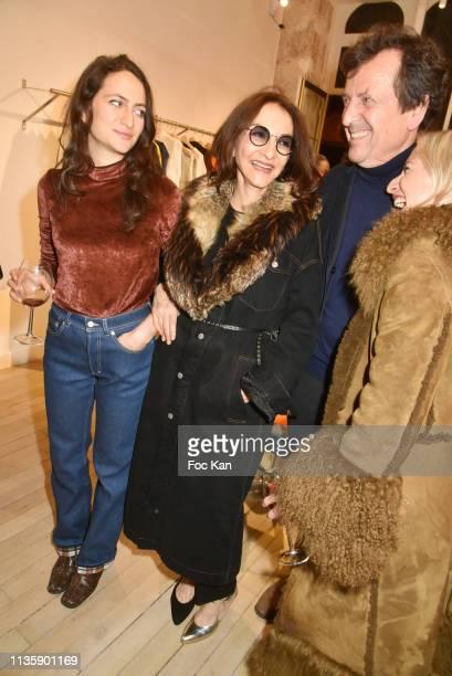 Salome Burstein designer Nathalie Rykiel designer Simon Burstein Lola Rykiel from Maison Saint Germain attend New Man Capsule Collection Launch At...