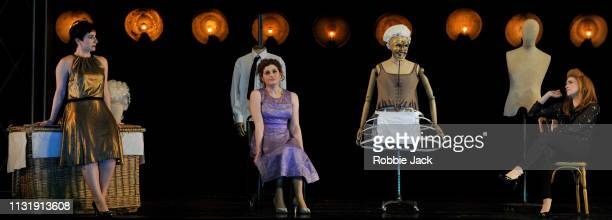 Salome Jicia as Fiordiligi Serena Malfi as Dorabella and Serena Gamberoni as Despina in The Royal Opera's production of Wolgang Amadeus Mozart's Cosi...