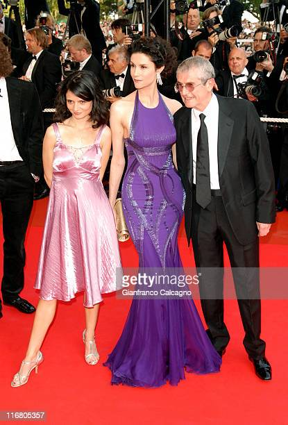 Salome Lelouch Alessandra Martines and Claude Lelouch
