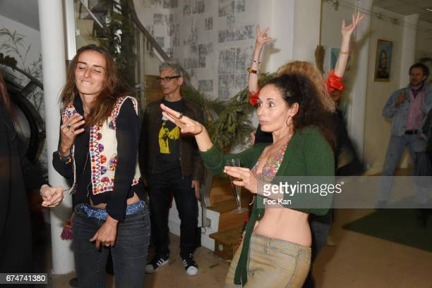 Salome Stevenin and Emmanuelle Escourrouattend Gabrielle Lazure 'Sixteen' Birthday Party at Galerie 18 Bis on April 28 2017 in Paris France