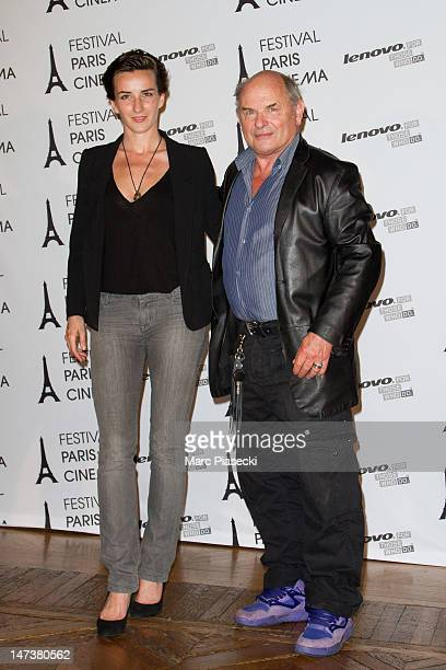 Salome Stevenin and JeanFrancois Stevenin attend the Opening Ceremony of Paris Cinema 10th Anniversary at Hotel de Ville on June 28 2012 in Paris...