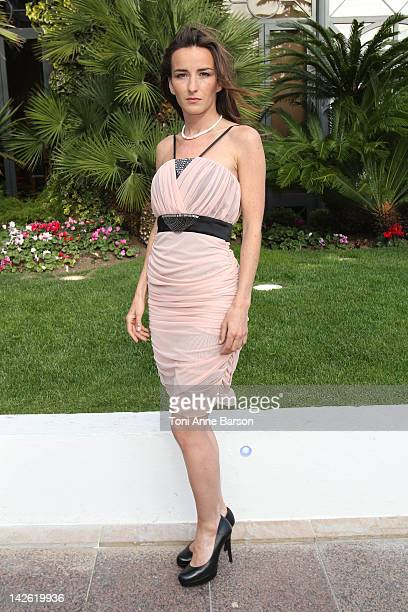 Salome Stevenin attends Christophe Guillarme New Collection presentation at the Palais des Festivals on April 7 2012 in Cannes France