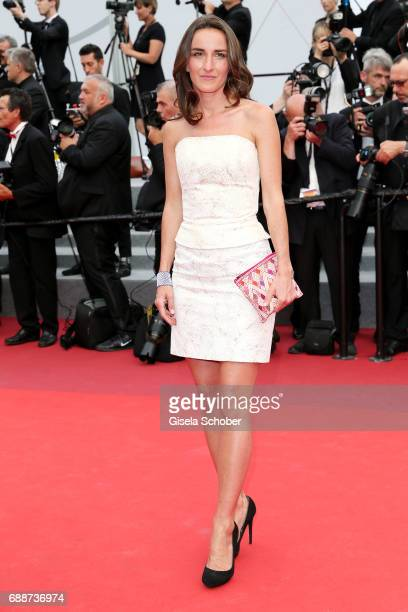 Salome Stevenin attends the Amant Double screening during the 70th annual Cannes Film Festival at Palais des Festivals on May 26 2017 in Cannes France