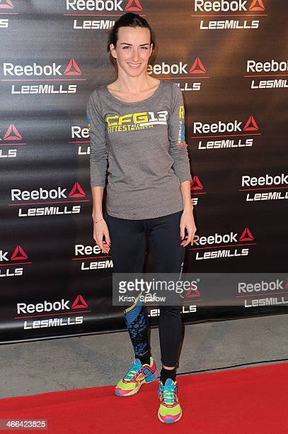 Salome Stevenin attends the Giant Fitness Course by Les Mills and Reekok at the Grand Palais on February 1 2014 in Paris France