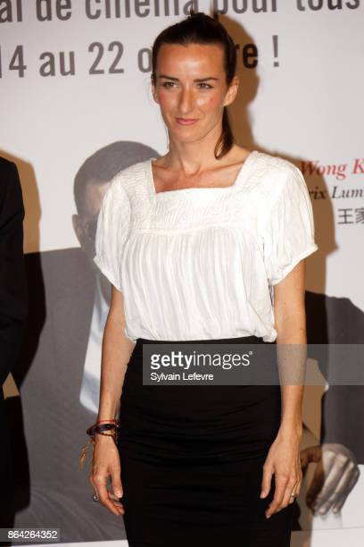 Salome Stevenin attends the photocall before The Lumiere Prize ceremony during 9th Film Festival Lumiere on October 20 2017 in Lyon France