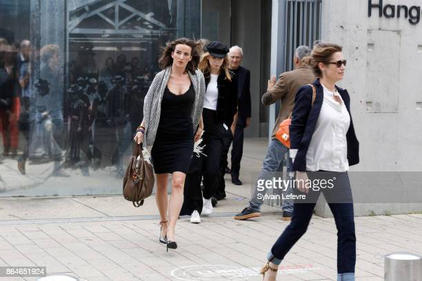 Salome Stevenin attends the shooting of French short blackandwhite silent documentary film 'La Sortie de l'Usine' directed by Wong Karwai at the...