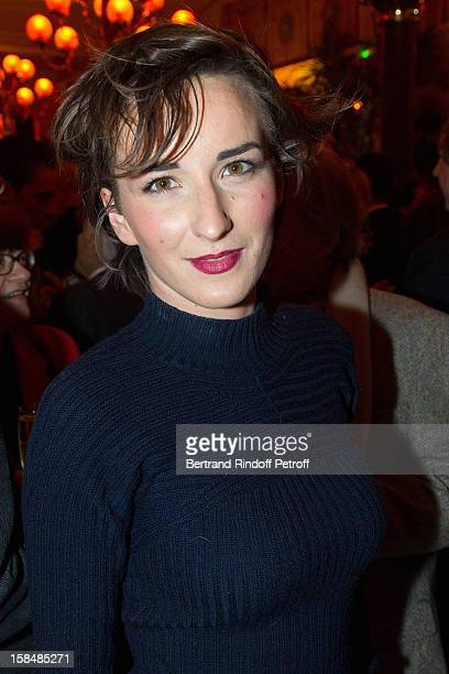 Salome Stevenin poses at restaurant Le Grand Colbert on December 17 2012 in Paris France