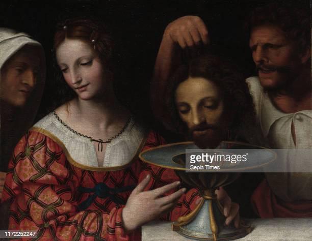 Salome with the Head of Saint John the Baptist, 1500s or later. Follower of Bernardino Luini . Oil on canvas; framed: 72.1 x 87 x 5.7 cm ; unframed:...