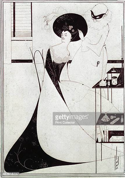 'Salome's Toilette' 1894 Salome is being attended by a masked figure Illustration for the play Salome by Oscar Wilde