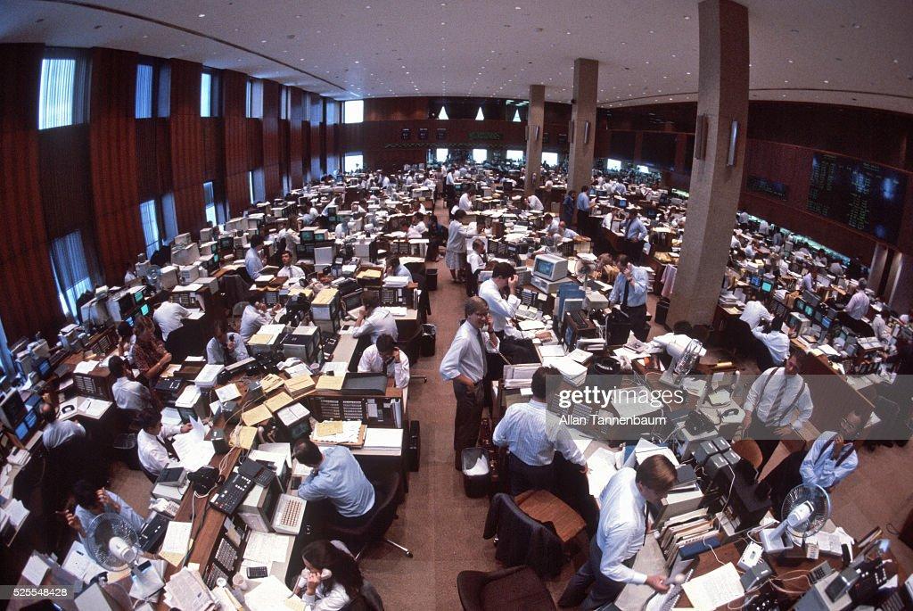 Salomon Brothers Trading Floor, New York, New York, May 30, 1986.