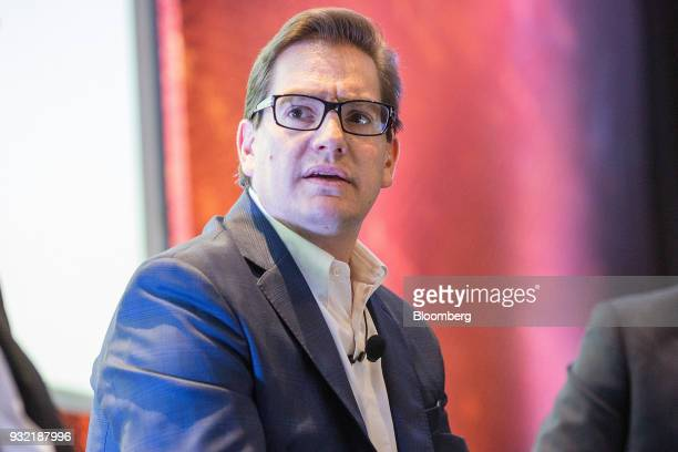 Salomon Chertorivsk economic advisor and platform coordinator for National Action Party presidential candidate Ricardo Anaya speaks during the...