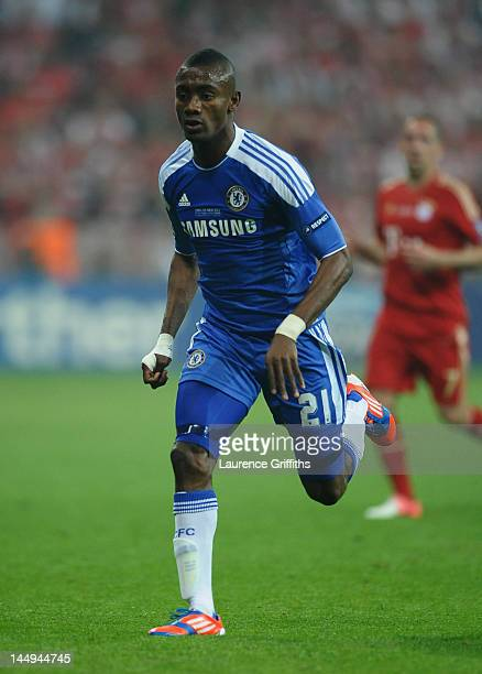 Salomon Kalou of Chelsea in action during UEFA Champions League Final between FC Bayern Muenchen and Chelsea at the Fussball Arena München on May 19,...