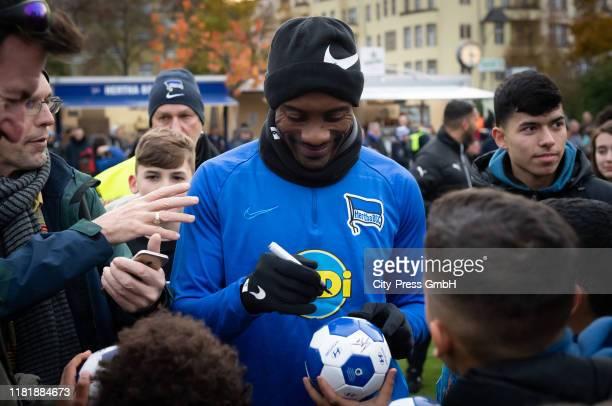 Salomon Kalou of Hertha BSC after the Kieztraining of Hertha BSC on november 12, 2019 in Berlin, Germany.