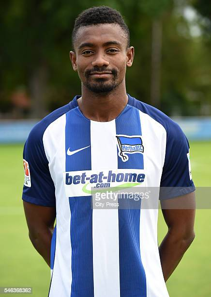 Salomon Kalou of Hertha BSC during the team presentation of Hertha BSC on July 12 2016 in Berlin Germany