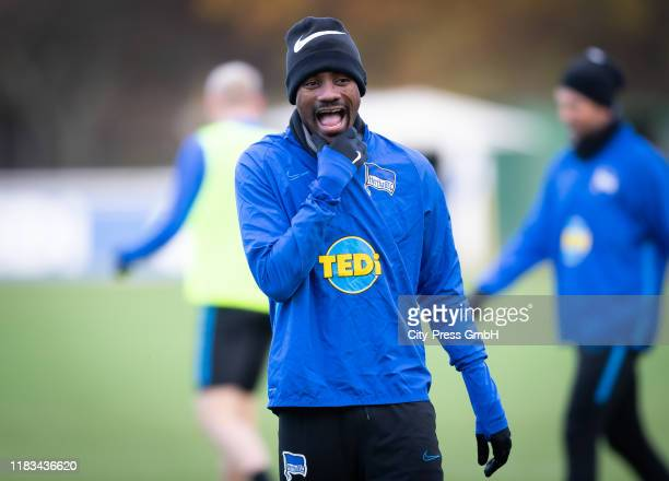 Salomon Kalou of Hertha BSC during the training on november 19, 2019 in Berlin, Germany.