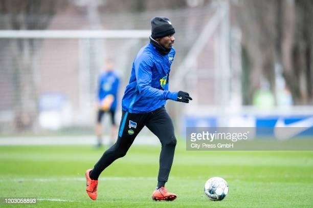 Salomon Kalou of Hertha BSC during the training session at Schenckendorffplatz on February 25, 2020 in Berlin, Germany.