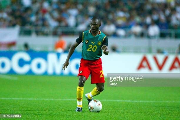Salomon OLEMBE of Cameroon during the FIFA World Cup match between Cameroon and Germany on June 11 2002 in Ecopa de Shizuoka stadium Japan