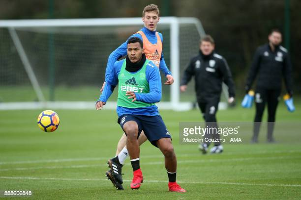 Salomon Rondon and Sam Field of West Bromwich Albion during training on December 5 2017 in West Bromwich England