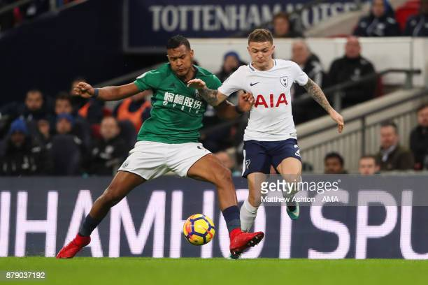 Salomon Rondon of West Bromwich Albion and Kieran Trippier of Tottenham Hotspur during the Premier League match between Tottenham Hotspur and West...