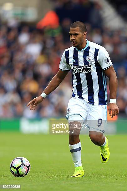 Salomon Rondon of West Bromwich Albion during the Premier League match between West Bromwich Albion and West Ham United at The Hawthorns on September...