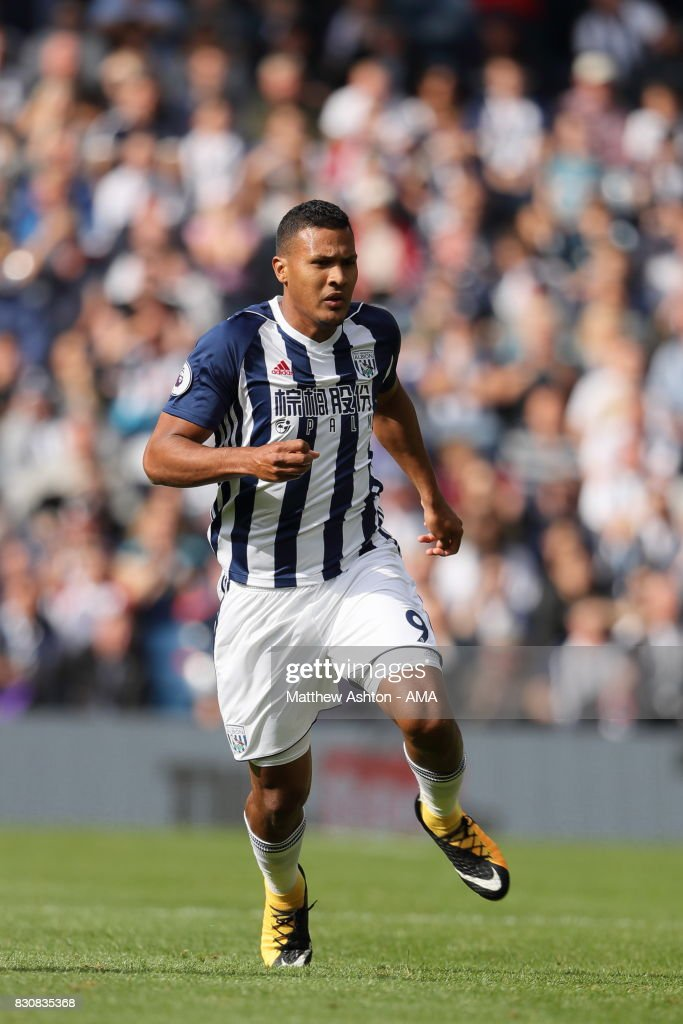 Salomon Rondon of West Bromwich Albion during the Premier League match between West Bromwich Albion and AFC Bournemouth at The Hawthorns on August 12, 2017 in West Bromwich, England.