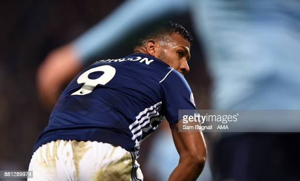 Salomon Rondon of West Bromwich Albion during the Premier League match between West Bromwich Albion and Newcastle United at The Hawthorns on November...