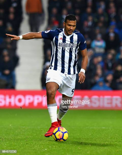 Salomon Rondon of West Bromwich Albion during the Premier League match between West Bromwich Albion and Crystal Palace at The Hawthorns on December 2...