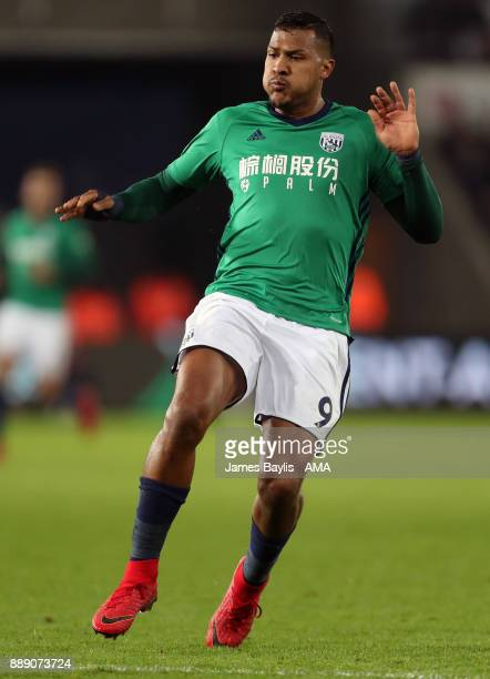 Salomon Rondon of West Bromwich Albion during the Premier League match between Swansea City and West Bromwich Albion at Liberty Stadium on December 9...