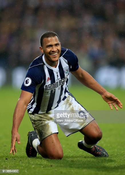 Salomon Rondon of West Bromwich Albion during the Premier League match between West Bromwich Albion and Southampton at The Hawthorns on February 3...