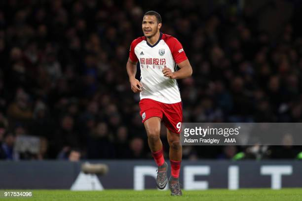 Salomon Rondon of West Bromwich Albion during the Premier League match between Chelsea and West Bromwich Albion at Stamford Bridge on February 12...
