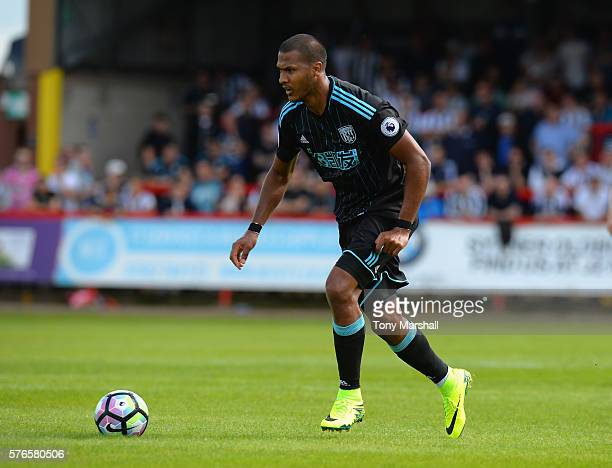 Salomon Rondon of West Bromwich Albion during the PreSeason Friendly match between Kidderminster Harriers and West Bromwich Albion at Aggborough...
