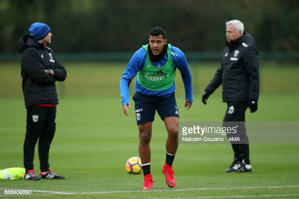 Salomon Rondon of West Bromwich Albion during training on December 5 2017 in West Bromwich England
