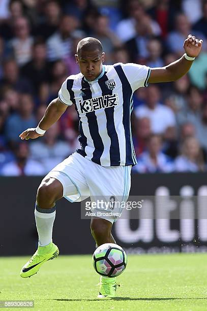Salomon Rondon of West Bromwich Albion in action during the Premier League match between Crystal Palace and West Bromwich Albion at Selhurst Park on...