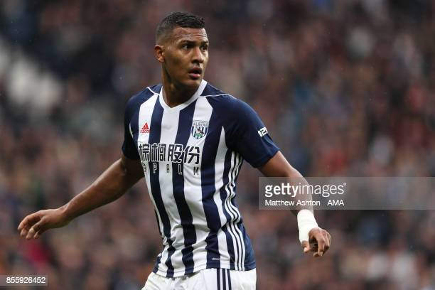 Salomon Rondon of West Bromwich Albion in action during the Premier League match between West Bromwich Albion and Watford at The Hawthorns on...