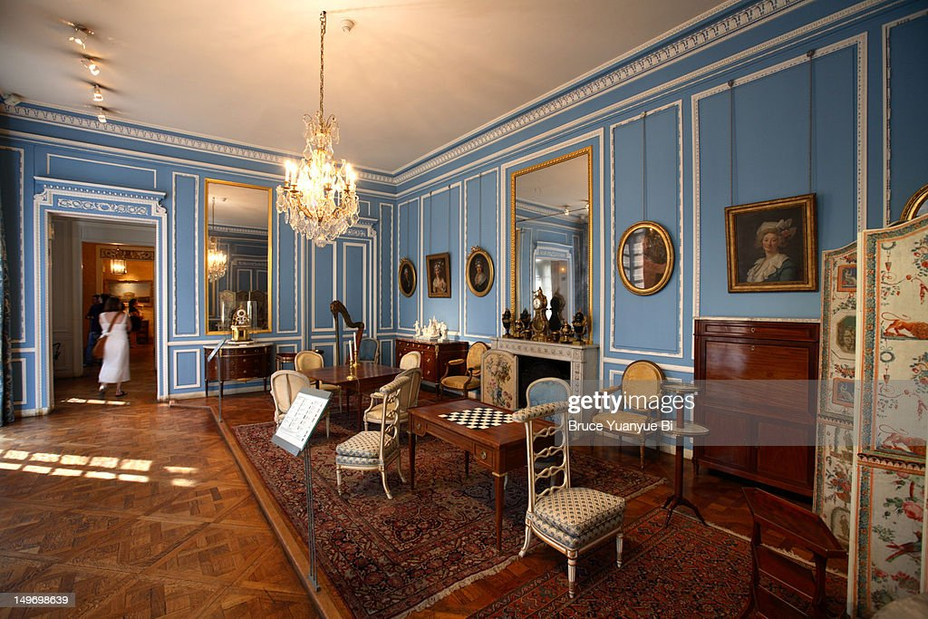 Salon bleu louis xvi in musee carnavalet stock photo getty images - Salon louis xvi ...