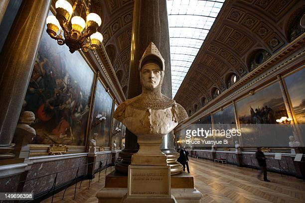 salon de la guerre in chateau of versailles. - versailles stock pictures, royalty-free photos & images