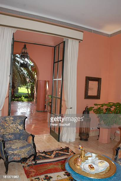 Salon in Villa von Henriette von Bohlen und Halbach Homestory Villa Bled Targui Marrakesch Marokko Nordafrika Afrika Residenz Palast Adel Reise