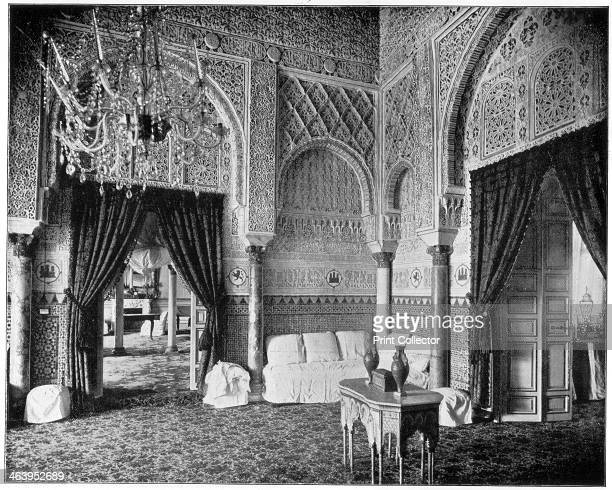Salon of Maria de Padilla Alcazar Seville Spain late 19th century The Alcazar was built over Moorish ruins during the 14th century for King Pedro of...