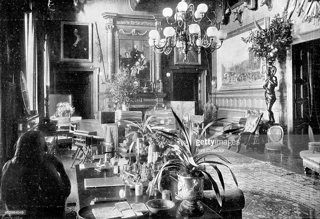 A salon, Sandringham House, Norfolk, 1910. A photograph from Lady's Pictorial, 14th May 1910.