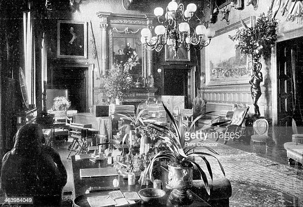 A salon Sandringham House Norfolk 1910 A photograph from Lady's Pictorial 14th May 1910